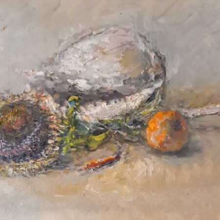 Composizione di Alvaro Danti - Olio su tavola - Galleria Athena di Livorno
