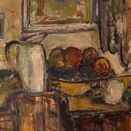 Composizione di Federico Cresci - Olio su tela - Galleria Athena di Livorno