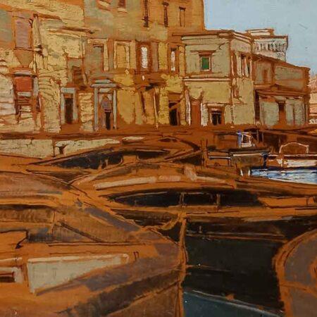 Venezia di Raffaele De Rosa - Olio su tavola - Galleria Athena di Livorno
