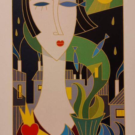 Opera di Fabio Leonardi, intitolata Omaggio a Modigliani | Galleria Athena Livorno